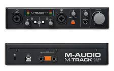 M AUDIO M TRACK PLUS MK2 2 CHANNEL USB AUDIO 24-bit / 96-kHz INTERFACE