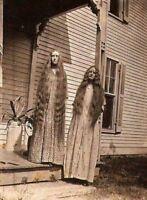 Antique Porch Sisters Photo 95 Bizarre Odd Strange 5 x 7