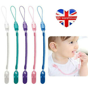 Dummy Baby Soother Clips Teething Baby Teether Chain Holder Pacifier Strap DAL