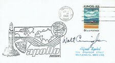 Walt CUNNINGHAM Signed Autograph First Day Cover 2 FDC AFTAL Apollo Astronaut