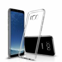 CLEAR RUBBER GEL BACK CASE COVER FOR SAMSUNG GALAXY S5 S6 S7 S8 S9 J3 J5 A3 A5