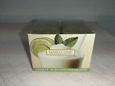 Yankee Candle -Vanilla Lime - Box of 12 Scented Tea Lights