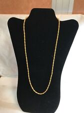 Rope Design Zero 118+ Necklace 24 Inch Gold Tone