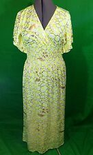 India Boutique Neon Yellow And Gold Print Maxi Dress New With Tags OSFM