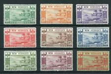 New Hebrides 1938 short set to 1f SG52/60 MM