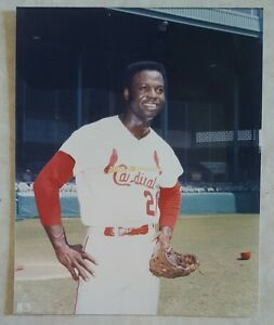LOU BROCK 8 X 10 PHOTO GLOSSY LICENSED ST LOUIS CARDINALS PICTURE E w GLOVE
