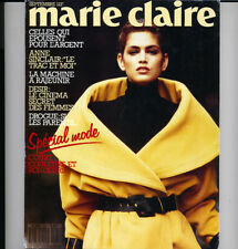 MARIE CLAIRE France, Sept 1987 CINDY CRAWFORD Vogue Models