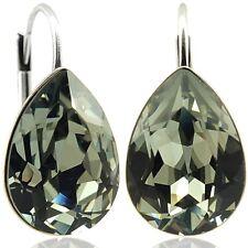 Ohrringe mit Kristallen von Swarovski® Grau Silber NOBEL SCHMUCK