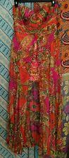 Women's Alberto Makali Party Cocktail Dress Silk Strapless Mini sheer drape 12