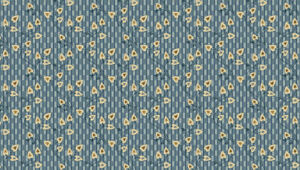 Heart Leaf Blue cotton fabric FQ's, 1/2 metre, Metre. Sewing, patchwork, crafts