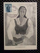 AUSTRIA MK 1949 COSTUMES TRACHTEN MAXIMUMKARTE CARTE MAXIMUM CARD MC CM a8472