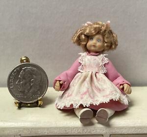 Vintage Artist A EVANS '91 Pretty Sculpted Dresser Doll Dollhouse Miniature 1:12