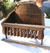"ANTIQUE DECORATIVE CAST IRON FIREPLACE BOX GRATE COAL WOOD INSERT 20"" X 13"""