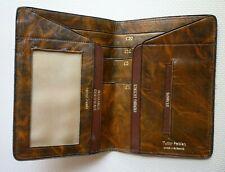 Vintage Tan Leather Tudor Persian Wallet