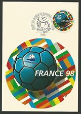 France 1998 coupe du monde de Football carte maximum  /T93