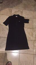 Lacoste Womens Polo Dress Black Size 40 M/L