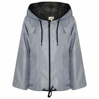 Girls Boys Raincoats Jackets Cagoule Lightweight Jacket Hooded Rain Mac 5-13 Yr