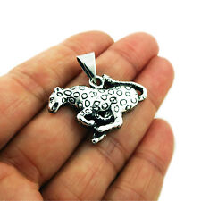 Jaguar 925 Sterling Silver Animal Pendant
