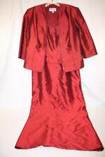 KAREN MILLER New York Maroon Beaded Evening Dress W/Jacket Womens Size 8P-B105