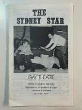 Vintage film and music magazines - The Sydney Star - Gay Theatre 1979