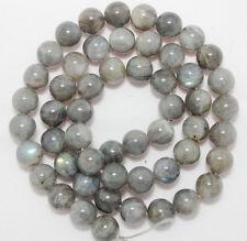 "Natural 6mm NATURAL Labradorite Round Gems Loose Beads 15"" AAA"
