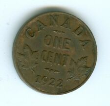 CANADA 1922 SMALL CENT--CIRCULATED