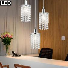 LED Design Luminaire Suspendu Cristal Verre Transparent de Plafond Chrome Spot