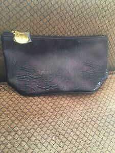 Estee Lauder Makeup Cosmetic Bag Faux Leather Merlot New