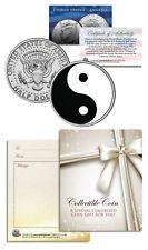 YIN YANG BALANCE HARMONY Keepsake Gift JFK Kennedy Half Dollar US Coin