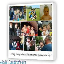 "LOVELY 16""x16"" COLLAGE CANVAS PERSONALISED PHOTO GIFT BIRTHDAY FAMILY"