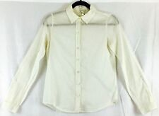 Forever 21 Women Junior Size Small Color Ivory  Button Down Shirt  Blouse