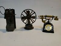 A Lot Of 3 Vintage 1960's Pencil Sharpeners, phones and electric fan.