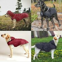 Pet Dog Hooded Rain Coat Waterproof Rainwear Jacket Puppy Reflective Raincoat