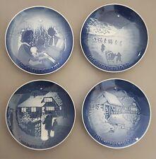 4 B&G (Bing & Grondahlin) Copenhagen Porcelain Christmas Plates 1971, 72, 73, 75
