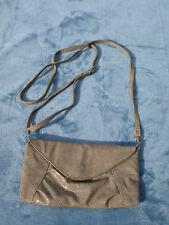 "F & F Ladies Beige Small Clutch Bag, Across Body Strap, 'Snakeskin', 9"" x 4.5"""
