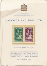 New Zealand 1950 Health on a Harrisons special presentation card
