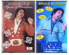 Bruce Borders Music Cassette Tape Lot of 2 OOP Rare Elvis Presley Impersonator