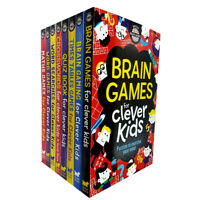 Gareth Moore Clever Kids Brain Games 8 Books Collection Set Pack Maths ,Word NEW