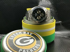 Green Bay Packers NFL Stainless Steel Watch by Fossil NEW