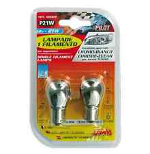Lampada 1 filamento 12V P21W 21W BA15s 2PZ D/Blister Cromo/Bianco COD.58064