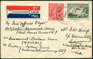 7 Mar.1930 flown cover carried from Daly Waters to Camooweal (by A.A.S.)