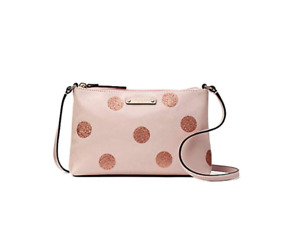 NWT Kate Spade Haven Lane Ramey Plum Dawn Pink/Glitter Dots Crossbody Bag