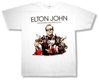 "ELTON JOHN ""ROCKET MAN TOUR 2010 (NEW YORK - GENEVA)"" WHITE T-SHIRT NEW OFFICIAL"