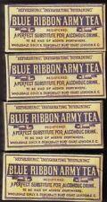 WW1 BRITISH BLUE RIBBON ARMY TEA BOXES SET OF 4 (REPRO)