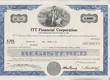 1975 ITT FINANCIAL CORPORATION SENIOR NOTE