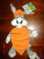 BUGS BUNNY IN CARROT WARNER BROTHERS BEAN BAG PLUSH