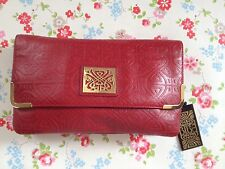 ⭐️BIBA⭐️RED FAITH EMBOSSED CLUTCH Bag Purse⭐️