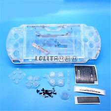 Crystal White Housing Faceplate Case Cover for PSP 3000 Slim (B)