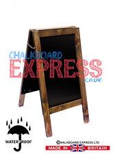 A BOARD PAVEMENT DISPLAY FRAME BLACKBOARD - CHALKBOARD 80cm x 40cm 5KGS