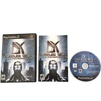 Deus Ex The Conspiracy Play Station 2 PS2 Complete With Manual